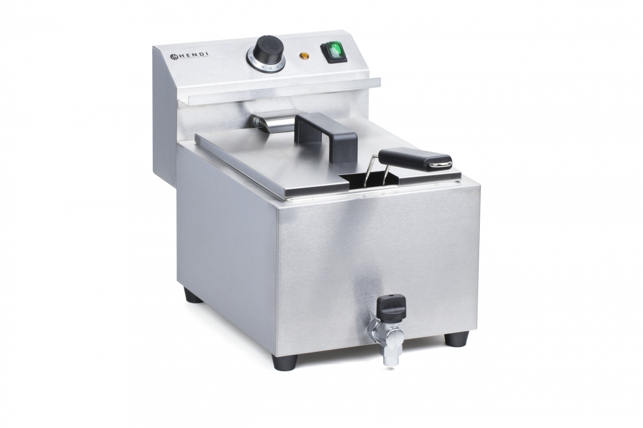FRYER WITH DRAIN TAP - 8 L