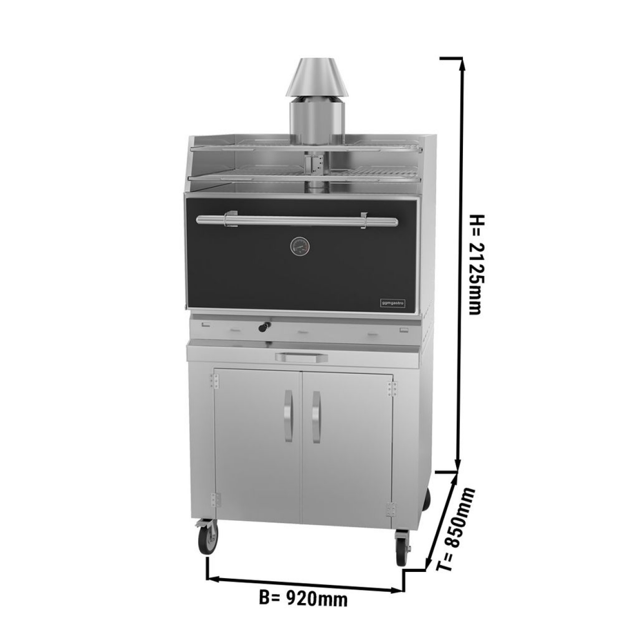 charcoal oven 881S