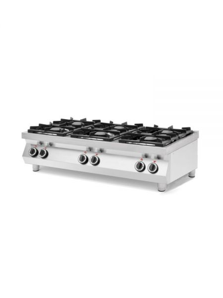 GAS COOKER 6-BURNER,