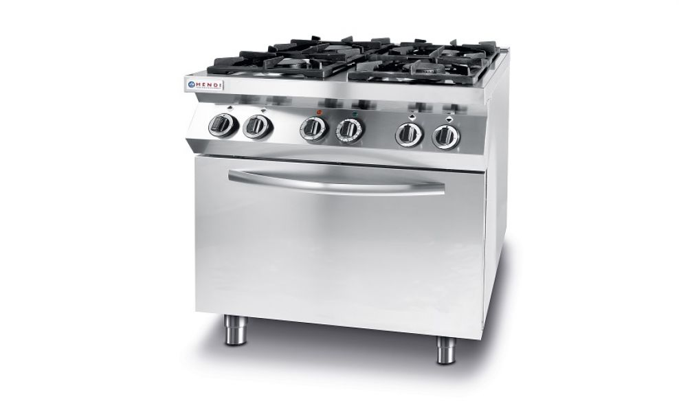 GAS COOKER 4-BURNER+EL.OVEN